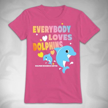 MF8153-2 Everyone Loves Dolphins Princess Tee Dolphin Research Center