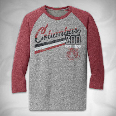 MF8180 Equilibrium Tri Raglan Columbus Zoo Tigers