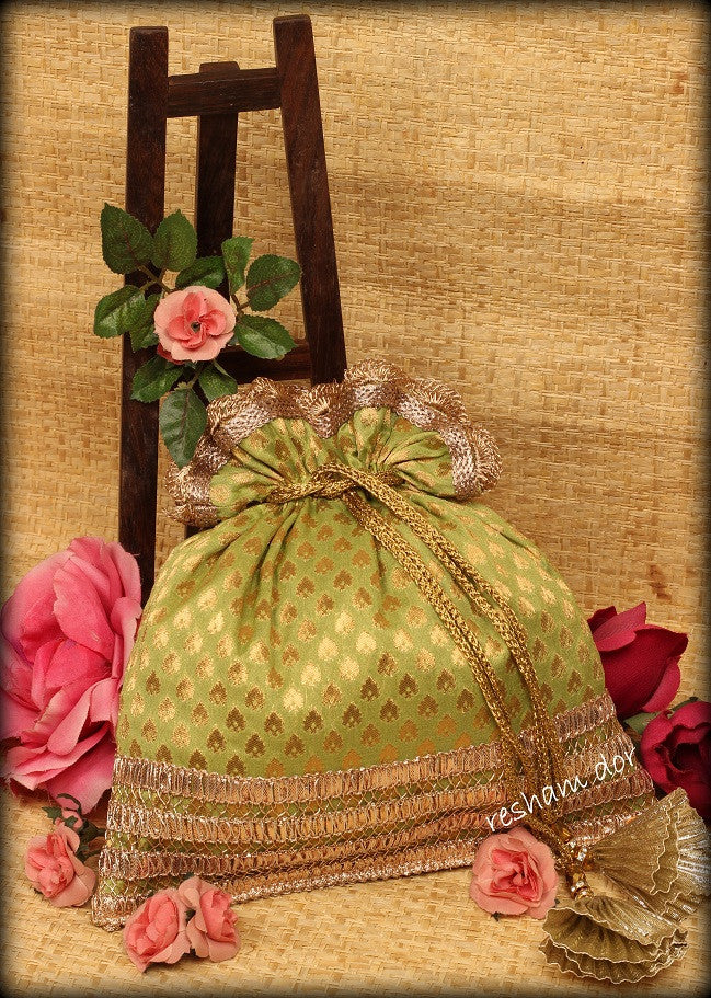 Booti, Reshamdor Indian ethnic potli bag, Handbag