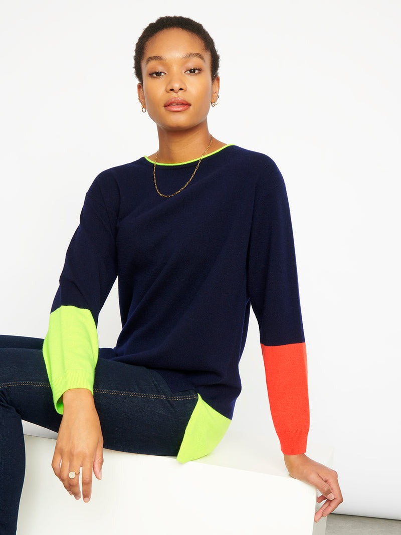 Thea Navy Jumper