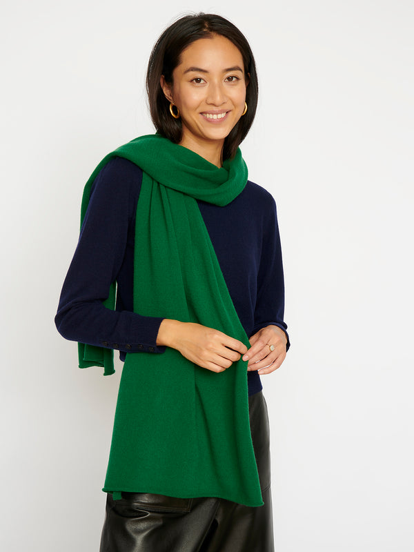 Essential Forest Green Cashmere Scarf