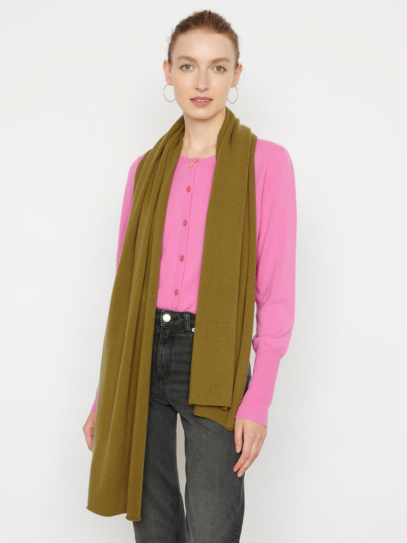 Essential Olive Cashmere Scarf