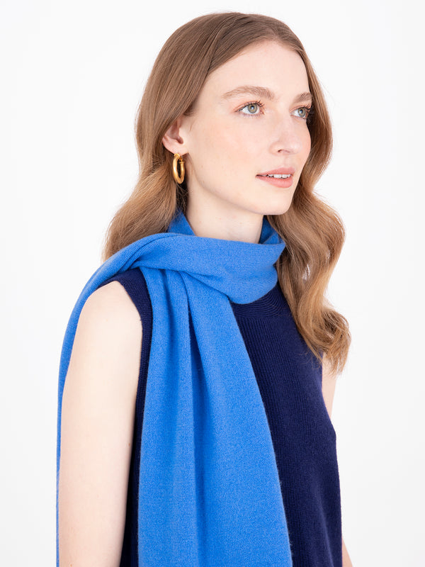 Small Essential Azure Cashmere Scarf