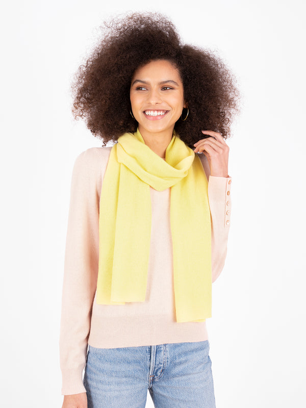 Small Essential Lemon Sherbert Cashmere Scarf
