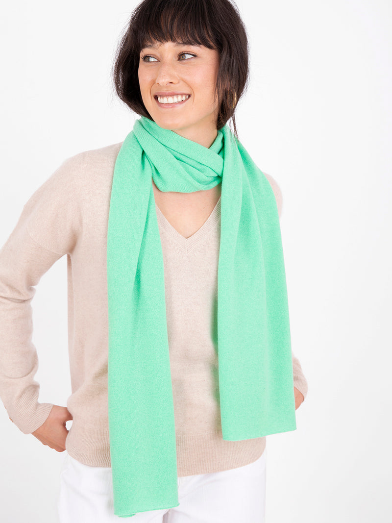 Small Essential Spearmint Cashmere Scarf