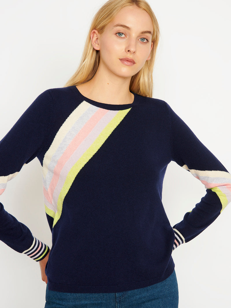 Rainbow Navy Jumper