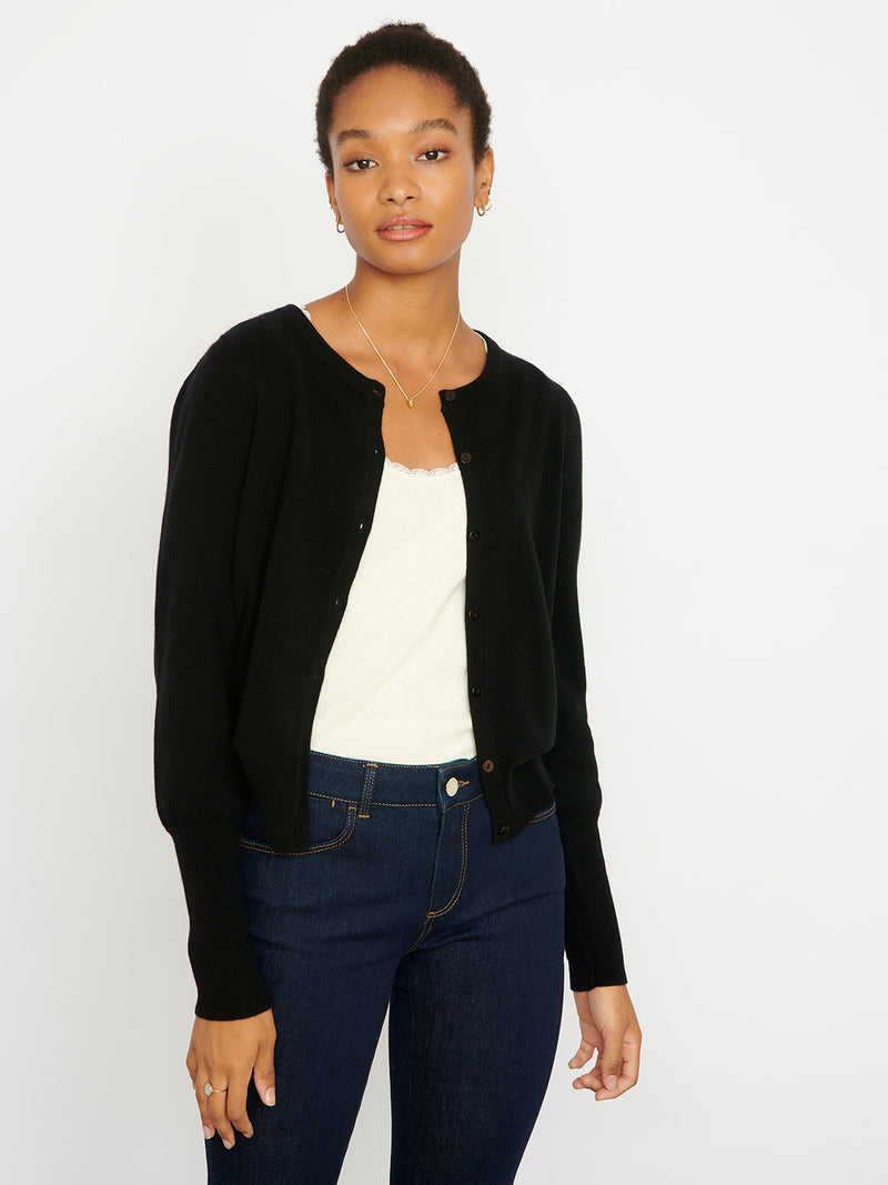 Essential Black Cashmere Cardigan