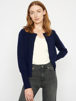 Essential Navy Cashmere Cardigan