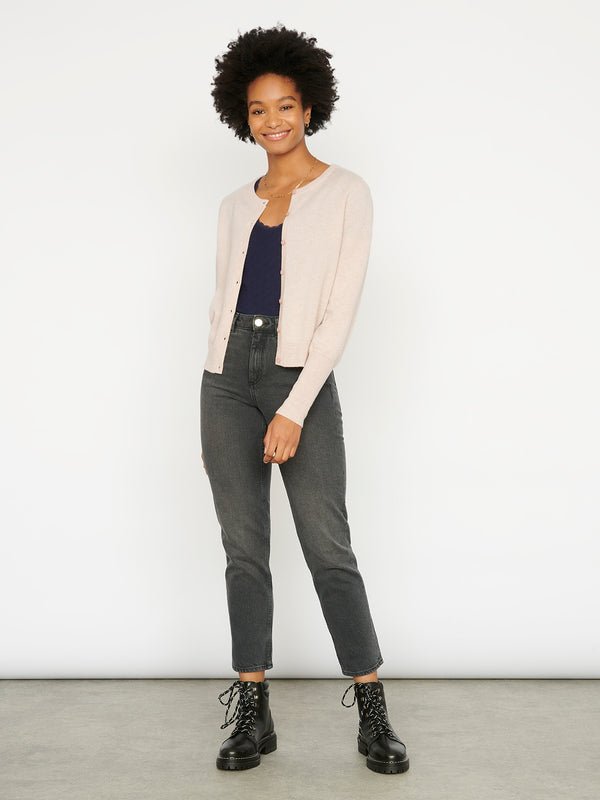 Essential Oatmeal Cashmere Cardigan