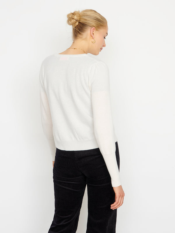 Essential Snow Cashmere Cardigan