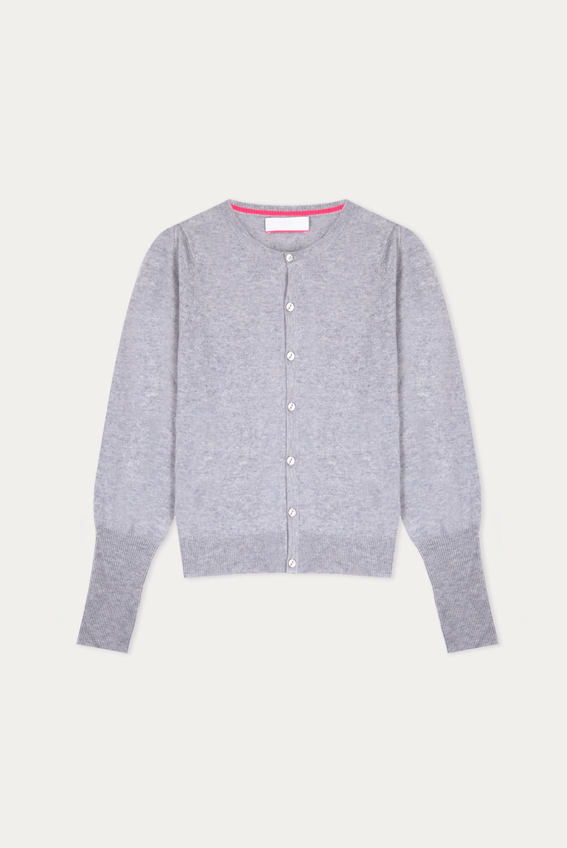 Essential Grey Cashmere Cardigan