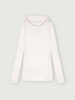 Essential Snow Ribbed Hoodie Jumper