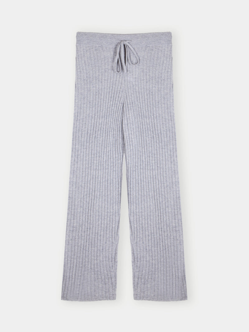 Essential Grey Ribbed Trouser
