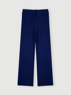 Essential Navy Ribbed Trouser