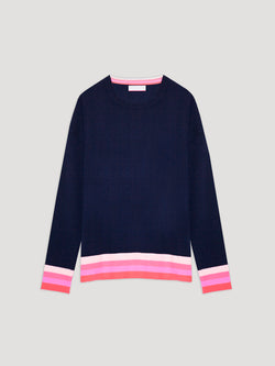 Eleanor Navy Jumper