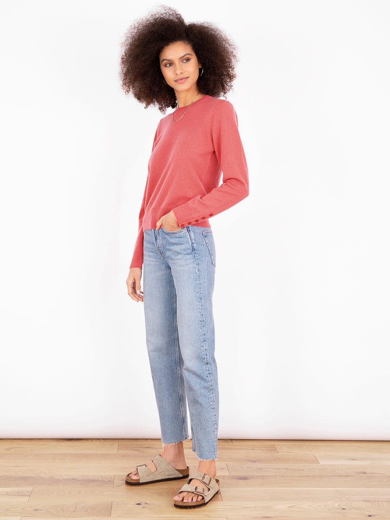 Essential Blush Crew Neck Cashmere Jumper