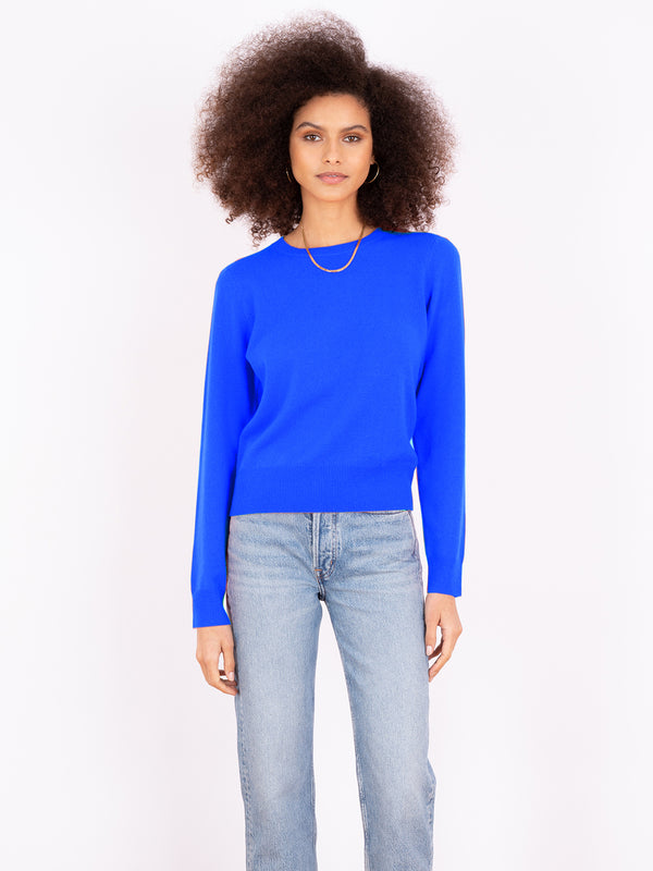 Essential Electric Crew Neck Cashmere Jumper