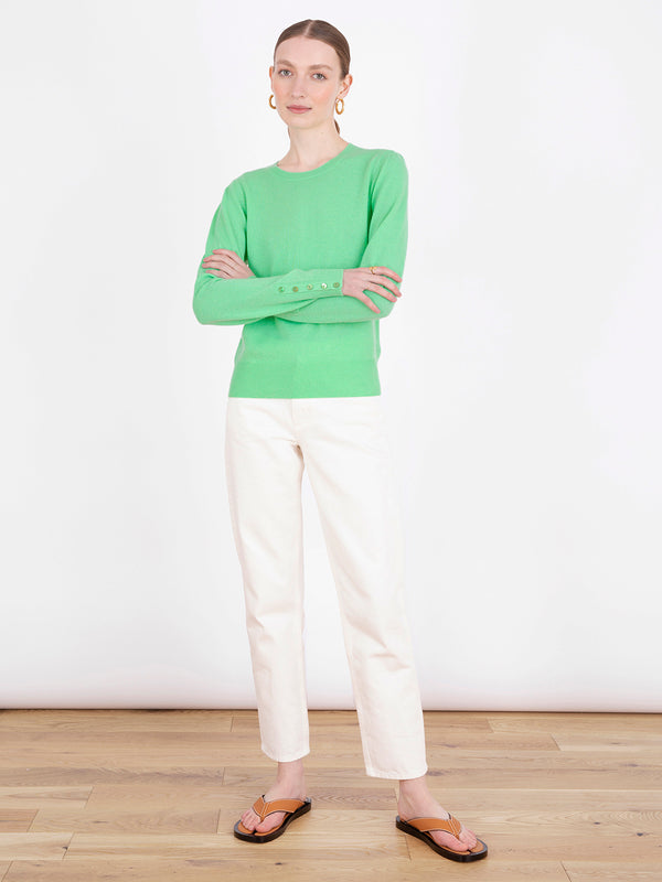 Essential Spearmint Crew Neck Cashmere Jumper