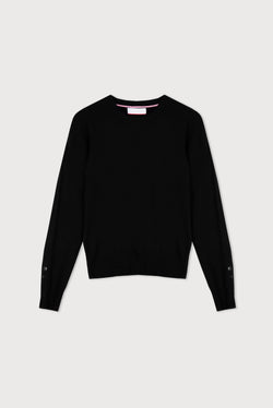 Essential Black Crew Neck Cashmere Jumper