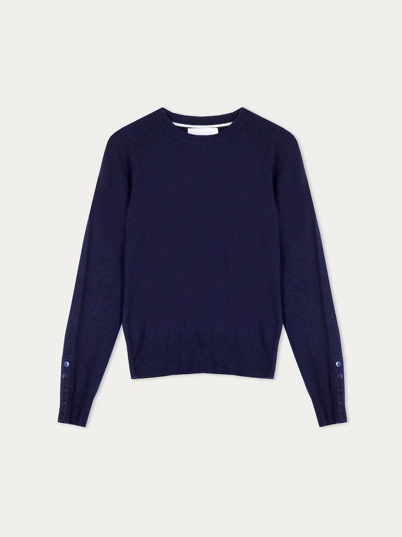 Essential French Navy Crew Neck Cashmere Jumper