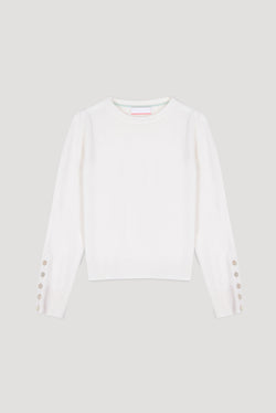 Essential Snow Crew Neck Cashmere Jumper