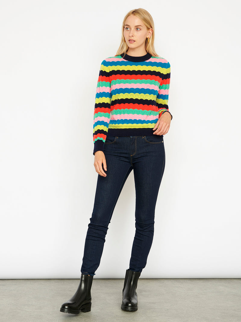 Camille Navy Jumper