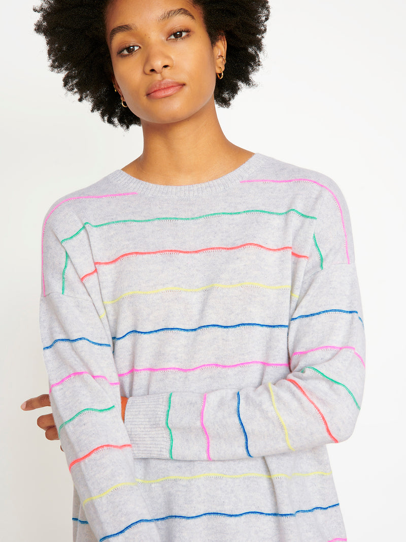 Cocoa Cashmere Mila Cloud Stripe Jumper