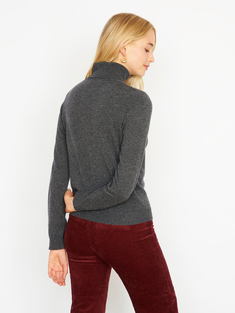 Essential Grey Cashmere Roll Neck