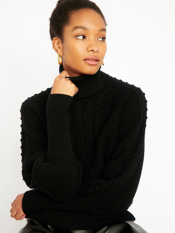 Nia Black Jumper