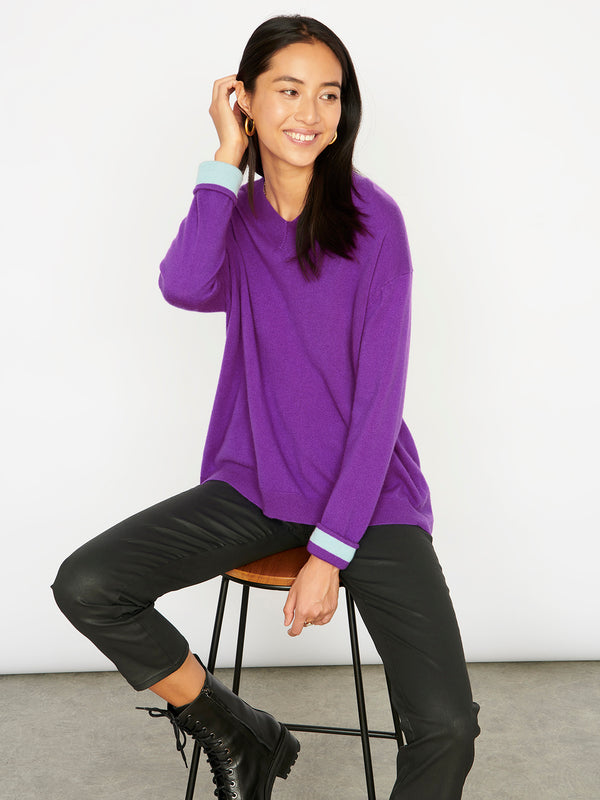 Natasha Purple Jumper