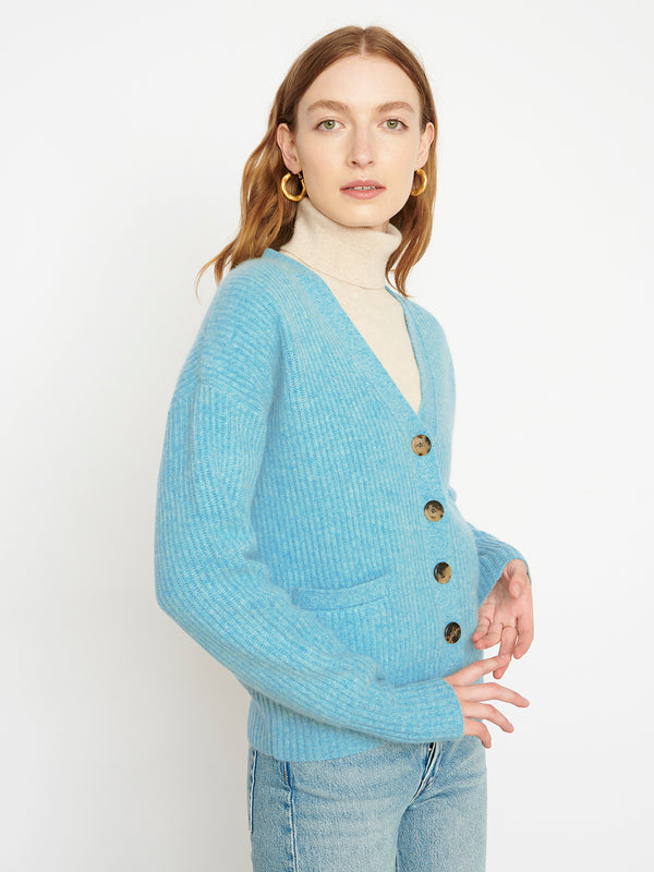 Stevie New Duck Egg Cardigan