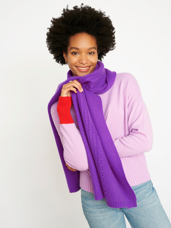 Lola Dark Purple Scarf