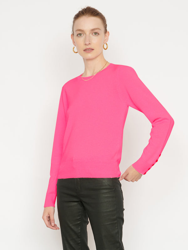 Essential Dayglow Crew Neck Cashmere Jumper