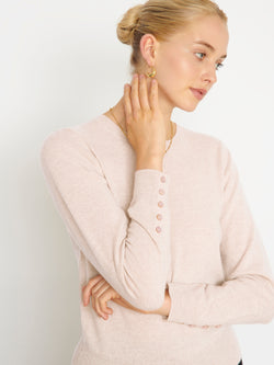 Essential Oatmeal Crew Neck Cashmere Jumper