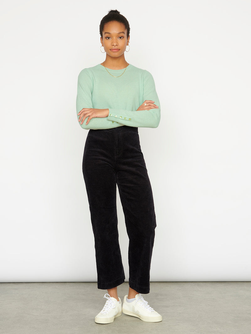 Essential Opal Blue Crew Neck Cashmere Jumper