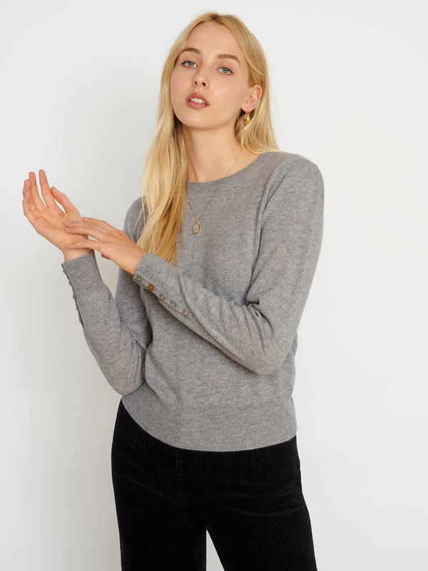 Essential Grey Crew Neck Cashmere Jumper