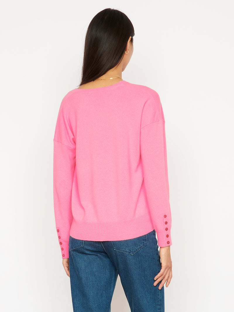 Essential Floss V Neck Cashmere Jumper