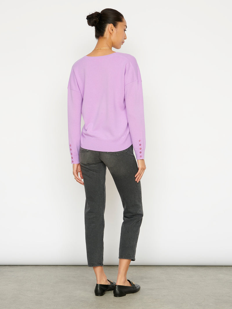 Essential Parma Ice V Neck Cashmere Jumper