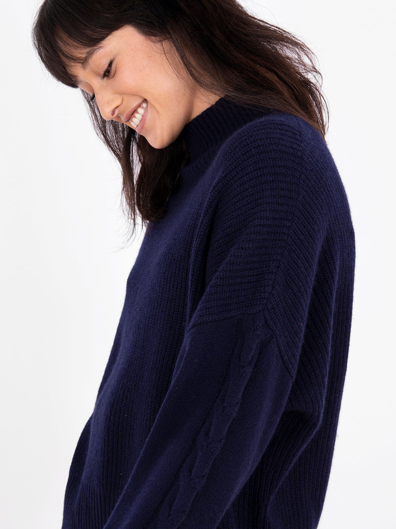Ines Navy Jumper