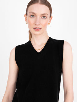 Essential Black V-Neck Sleeveless Vest