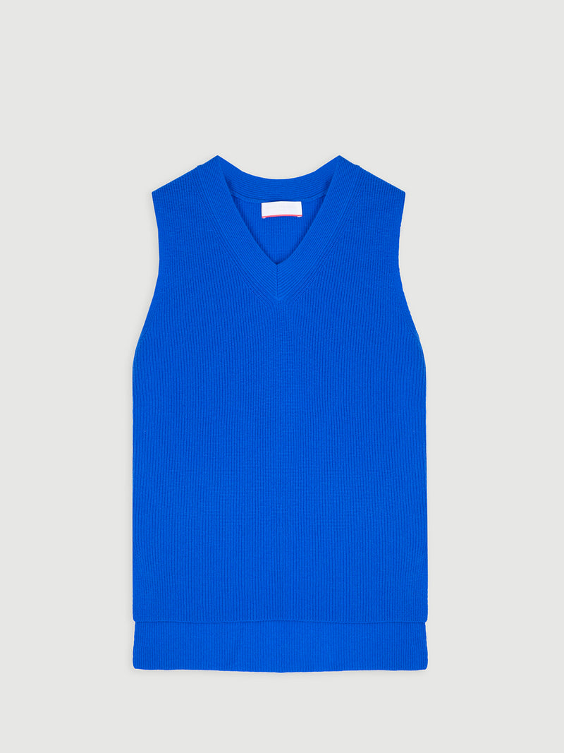 Essential Electric V-Neck Sleeveless Vest