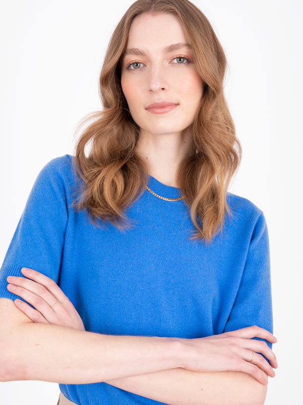 Essential Azure Blue Plain T-Shirt