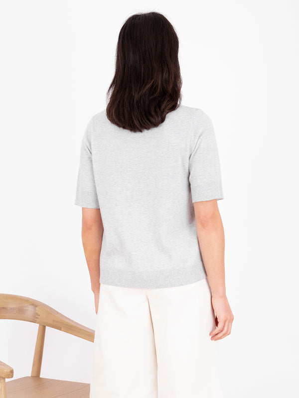 Essential Cloud Grey Plain T-Shirt