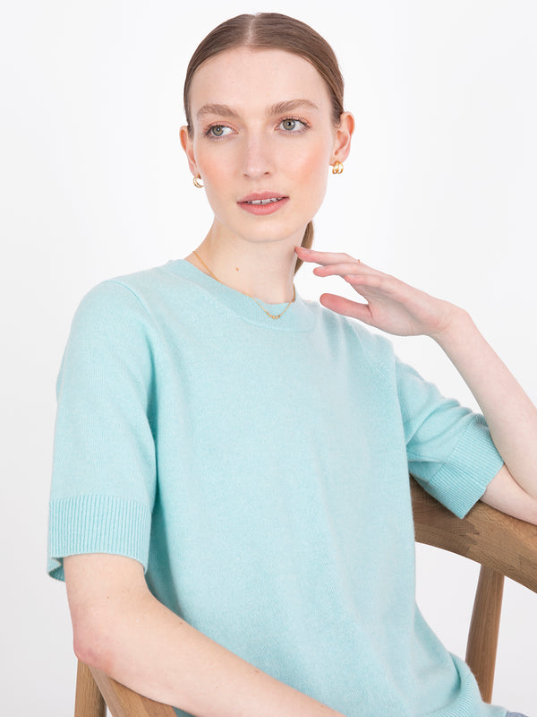 Essential Hummingbird Blue Plain T-Shirt