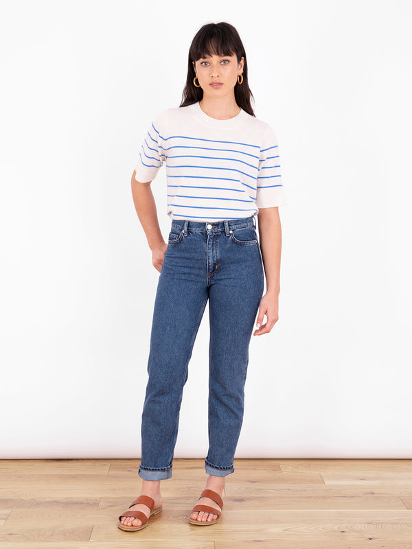 Essential Azure Blue Stripe T-Shirt