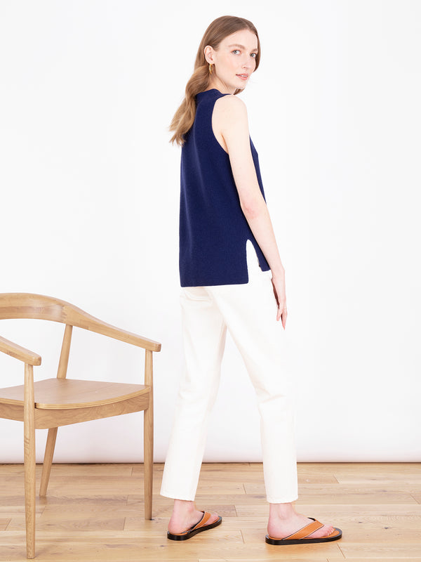 Essential French Navy Sleeveless Vest