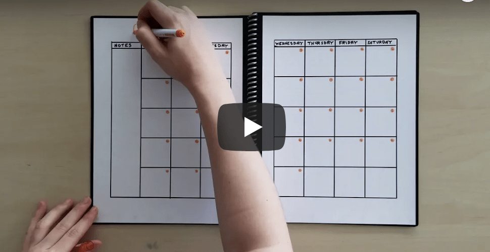 How to Make a Reusable Calendar in Your Rocketbook