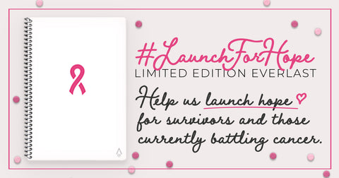#LaunchForHope Breast Cancer Awareness Notebook