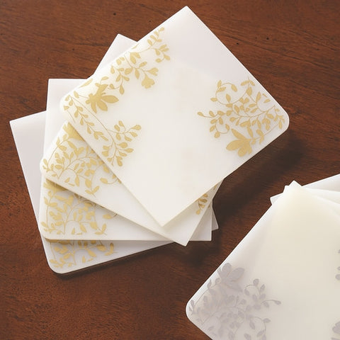 Modern Twist Coasters-Gold - Isabella: Gifts with Spirit