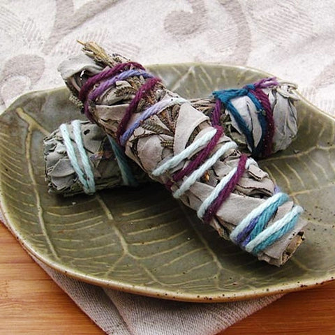 Lavender & White Sage Smudge Stick - Set of 2 - Isabella: Gifts with Spirit